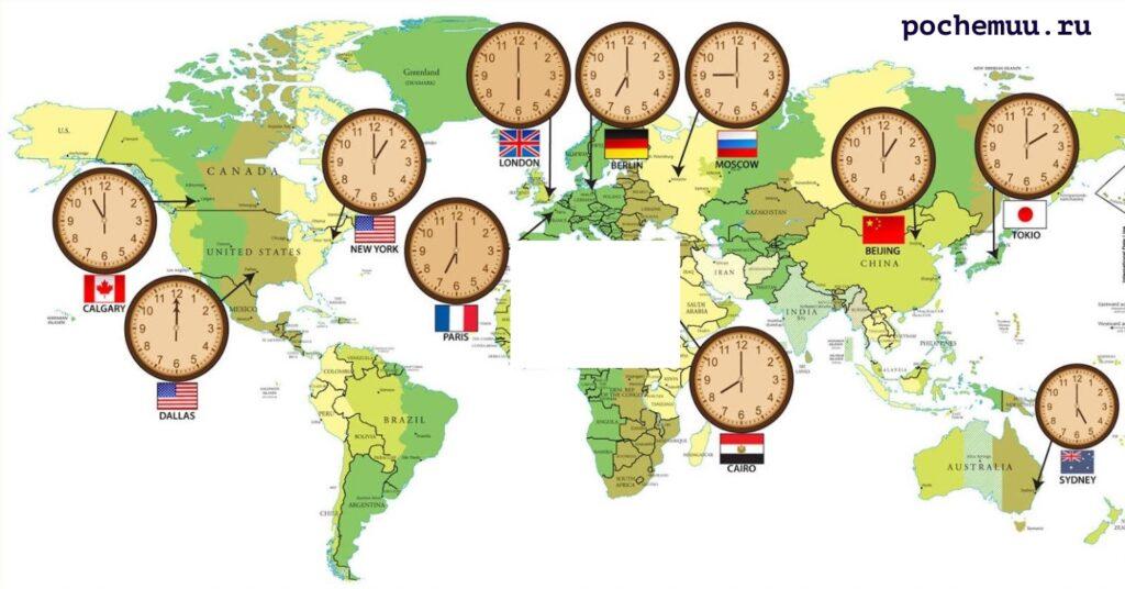 график часовых поясов