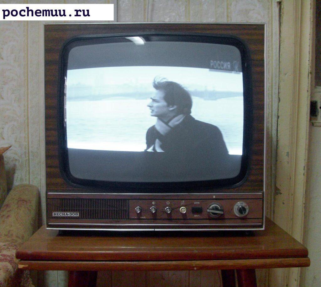 чернобелый экран на тв