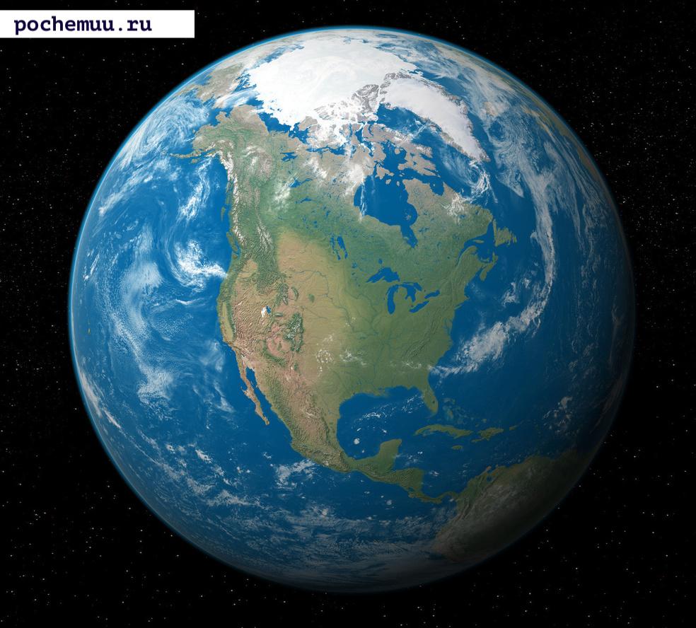 снимок из космоса земля