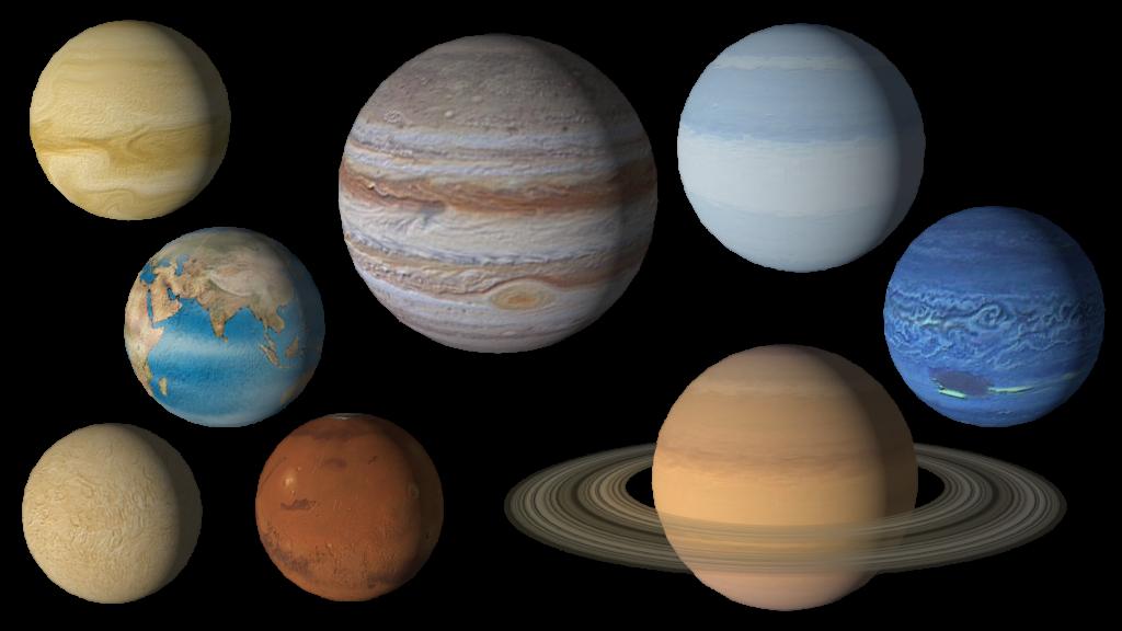 планеты в ряд