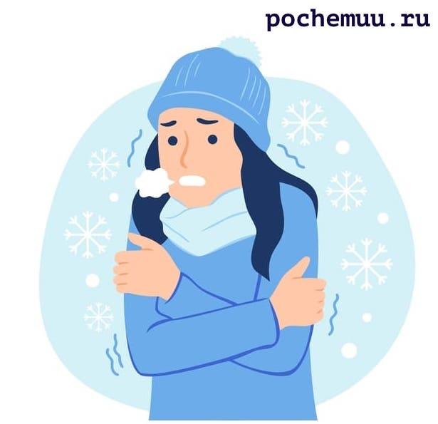 трясет человека на морозе дрожь по телу